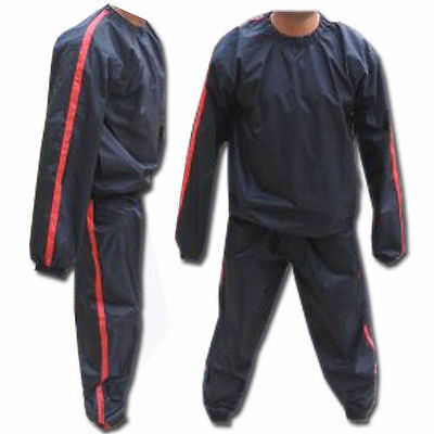 Sweat Sauna Suit Gym Suits Heavy Duty Anti Rip Weight Loss Exercise Large To 4Xl