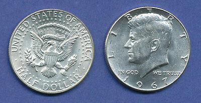 USA Kennedy 1/2 Dollar 1967, 11,5g 400er Silber !