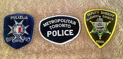 police patches - Malta - Vintage Toronto - Allegheny County