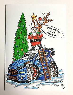 M-Sport World Rally Team Christmas Cards Pack of 4 *Free UK Delivery*
