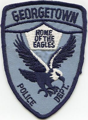 old vintage GEORGETOWN TEXAS TX Home of The Eagles POLICE PATCH