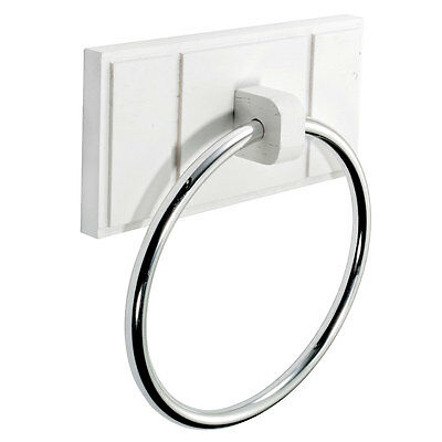 Towel Ring Holder Tidy Chrome Pine Wall Mounted Easy Fit Maine White New Product