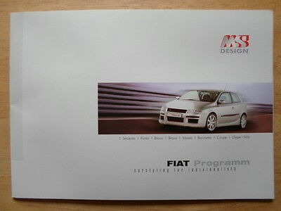 FIAT ACCESSORIES by MS DESIGN 2000 brochure - Coupe Barchetta Punto Bravo Stilo