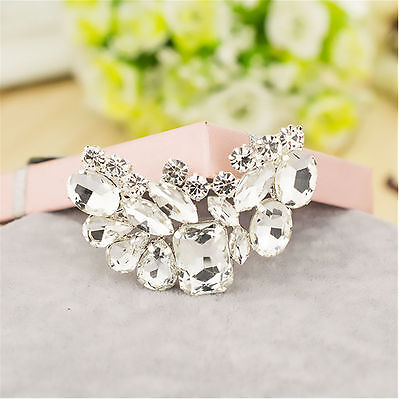 2Pc Fashion Bridal Wedding Rhinestone Shoe Buckle Crystal Shoe Clips Accessories
