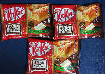 3 bags NEW Butter Cookie KitKat - Japanese new Flavour Kit Kat - Christmas Gift