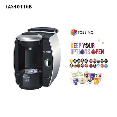 Bosch Tassimo Fidelia Coffee Maker- Black with Silver Accent-Intellibrew System