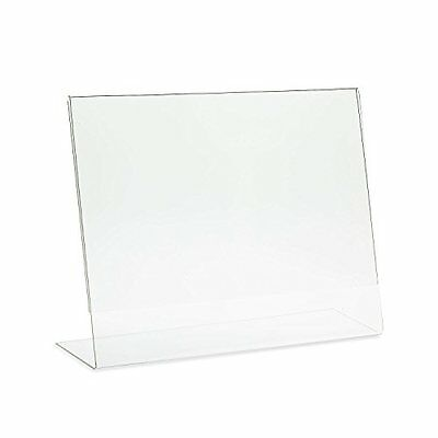 "Dazzling Displays 5 Acrylic 11"" x 8-1/2"" Slanted Sign Holders"