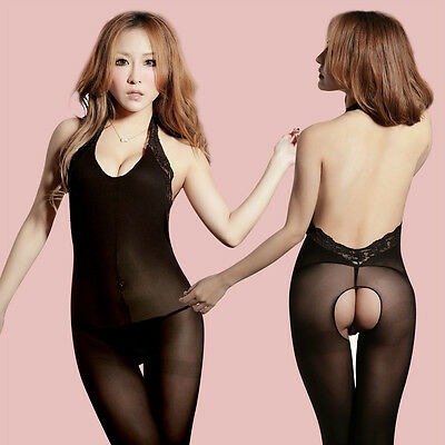 Lingerie Erotica Completino Intimo Donna Sexy Bodystocking Catsuit Aperto 3Color