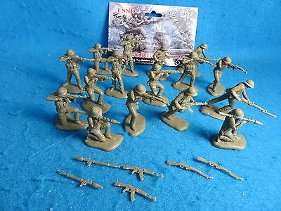 TSD Vietnam War - NVA Toy Soldiers - 54MM, 16 in 8 poses + 6 loose weapons