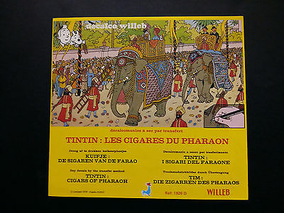 Tintin Kuifje Tim décalcomanies Willeb Cigares Pharaon complet