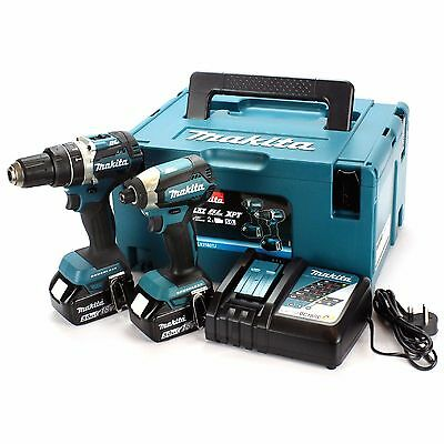 MAKITA DLX2180TJ TWIN PACK BRUSHLESS COMBI DRILL & IMPACT DRIVER 2 x 5.0AH BATTS