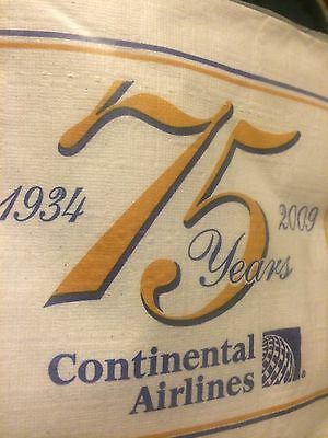 Continental Airlines 75th Anniversary Beverage Napkins. Sealed Pack.