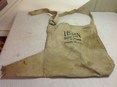 Free Shipping!! Vintage Horn Seed Sower Cloth Metal Urbana IN Farm