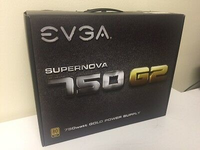 NEW EVGA 750 G2 Supernova 80 Plus Gold 750watt Power Supply
