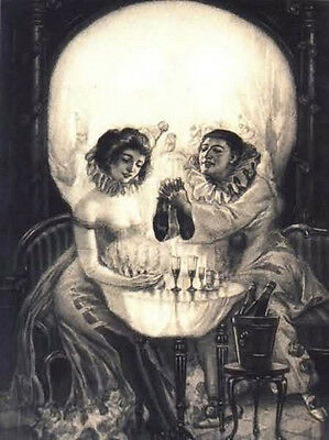Framed Print - Salvador Dali Gothic Skull (Painting Picture Poster Goth Art)