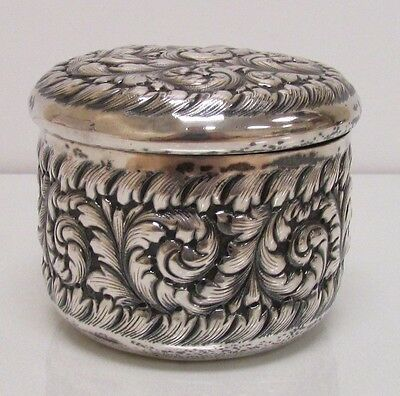 Antique Sheafer & Lloyd Sterling Silver Canister Tea Caddy Repousse