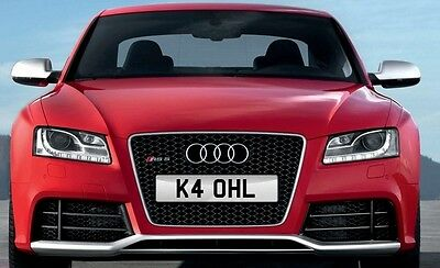 K4 OHL Personalised number plate private reg.