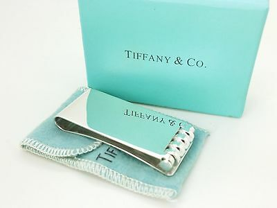 Tiffany & Co.Paloma Picasso Sterling Silver Roller Money Clip Holder Pouch &Box