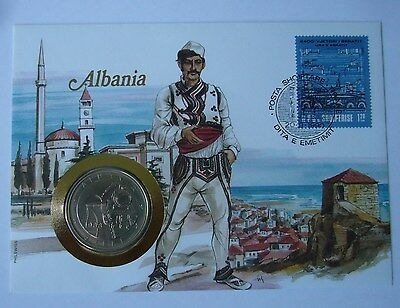 Albania 5 Leke 1988, Stamp-Cover, 42nd Anniversary of First Railroad - Train