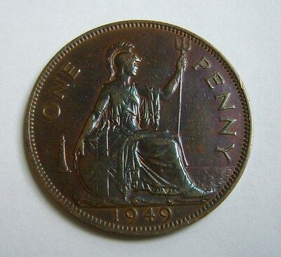 Great Britain 1 Penny 1949, Beautiful Color