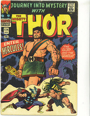 The Mighty Thor 124 1966 Journey into Mystery Kirby British price Marvel comics