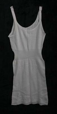 Vintage Ladies Chilprufe Sea Island Cotton Cream Vest Size Wms (4094)