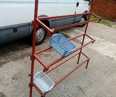 Heavy Duty Steel Stand Market Stall Display 5ft length Fits in car.3 Tier Strong