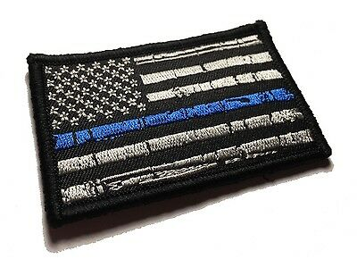 The Tattered Police Thin Blue Line United States Flag Hook/loop Patch