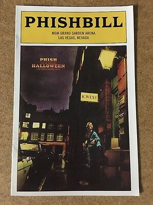 Phishbill Playbill Phish Bill Halloween MGM Arena Las Vegas 10/31 Page McConnell