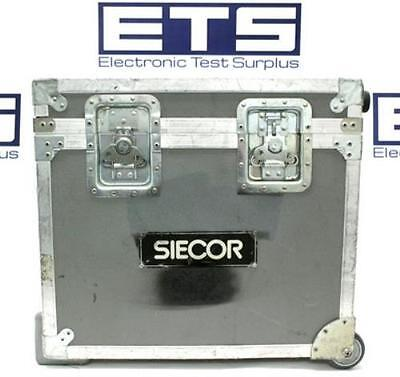 Siecor Electronic Equipment Flight Road Case w/ Handle & Wheels 22x19.5x10.5