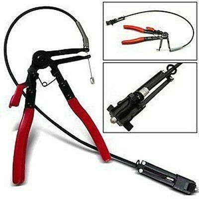 Flexible Long Reach Locking Hose Clamp Removal Plier Ratchet Tool Clip Free Ship