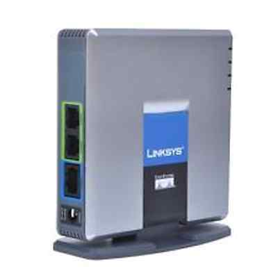 Cisco Linksys PAP2T-NA Unlocked VoIP Adapter with 2 Ports 3/2 Pins Power Supply.