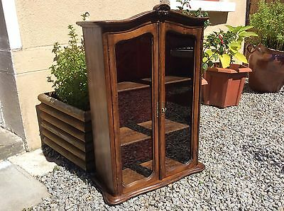 Antique Vintage French Petite Glazed Display Curio Cabinet