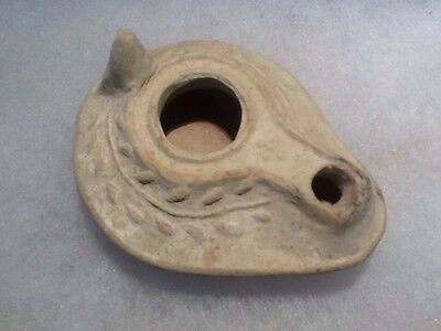 Roman Christian Oil Lamp 300-600AD With Cross