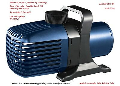 New Jebao CM 18,000 L/H 170W Energy-Saving Pump With 5M Cable + 1 Year Warranty