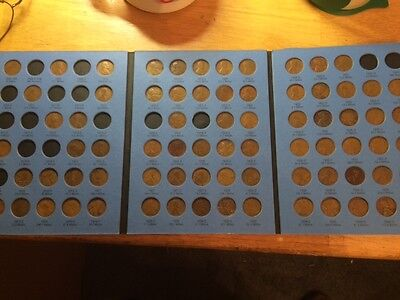 1909 - 1940 Linc. Cent Set; PDS,Wheatback; 09VDB, 22D, More In Coin Folder!!