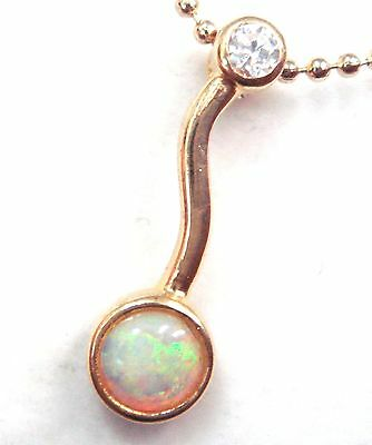 Lady Jewlery Natural Solid Crystal Opal Pendant Solid 925 Silver Set 4.740cts