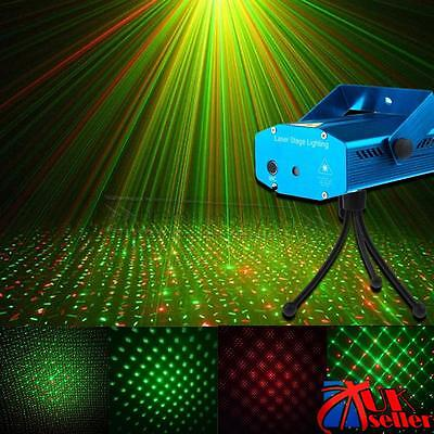 Christmas LED Stage Lighting Mini R&G Laser Projector Disco Party Club DJ Light