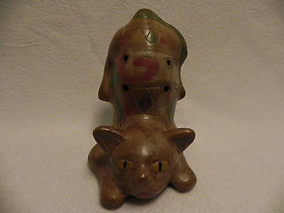 Ultra Rare Frisky Feline Handmade Clay Whistle