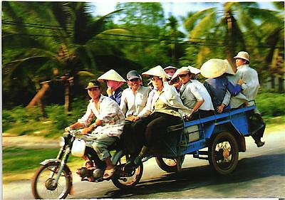 Asia Motorcycle And Trailer Modern Postcard