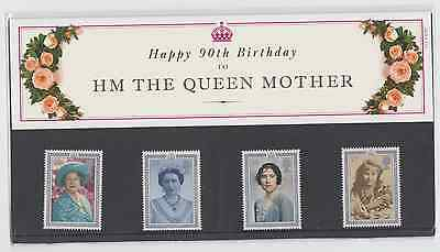 Great Britain 1990 90th Birthday of Queen Mother Stamp Set