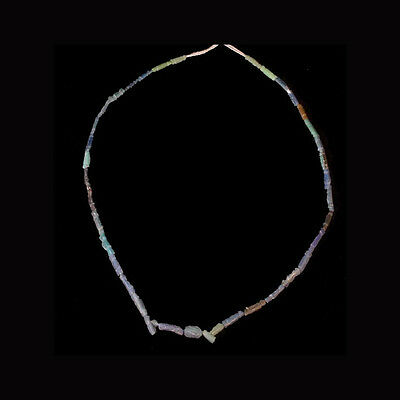 Roman coloured glass bead necklace x7430