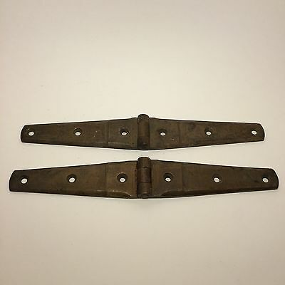 Vintage Set Of 2 Brass Hinges Heavy Duty Big Strong