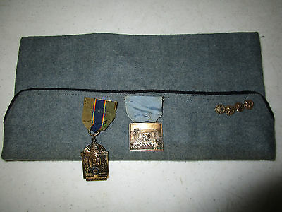 Wwi Veteran Association 40 & 8 Overseas Hat And 2 Medals
