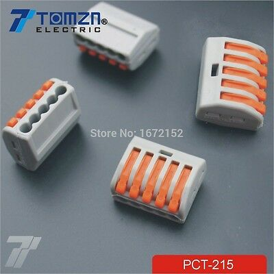 20PCS 5 Pin Universal compact wire wiring connector conductor terminal block