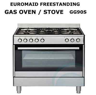 Euromaid GG90S 900mm Gas oven Upright Cooker