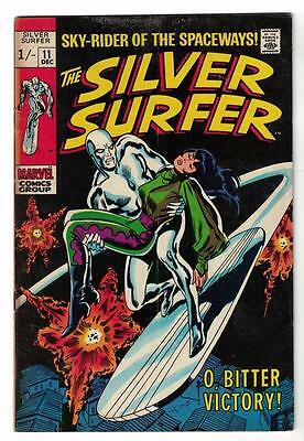 MARVEL Comics SILVER SURFER  #11 1970  Fantastic four  VG+ 4.5