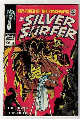 MARVEL Comics SILVER SURFER  Issue #3 Mephisto Fantastic four FN- 5.5 1968