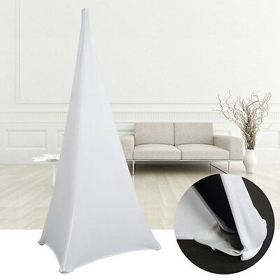 1X Speaker Stands Scrim DJ Tripod White Spandex Lycra Stretch Cover Double Sided