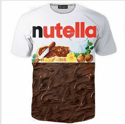 Summer New Womens/Mens Nutella Chocolates funny 3D Print Casual T-Shirt TEE GC34